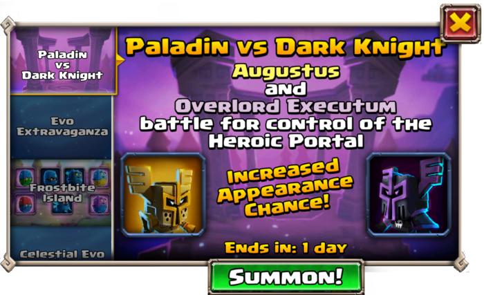 Paladin vs Dark Knight