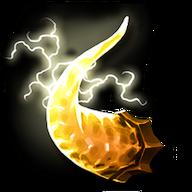 Golden demon horn