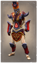 Fiery flame lion skin