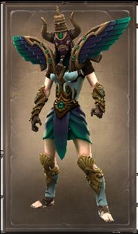 Grim winged taurus chestplate