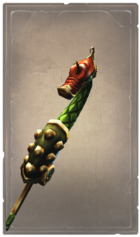 Purified green serpent glaive