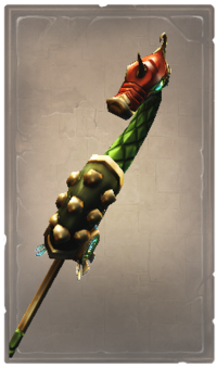 Majestic green serpent glaive