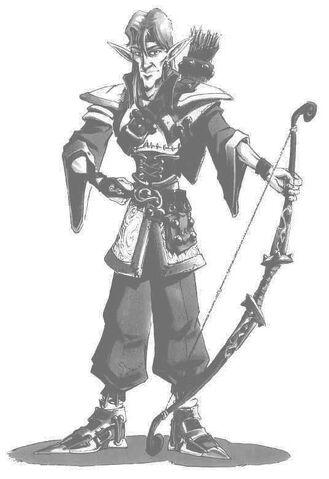 File:Elven Archer B&W Concept Art.jpg