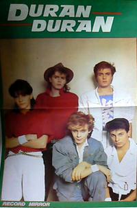 Record mirror duran duran poster