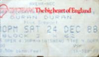 Duran duran ticket birmingham nec arena 1988