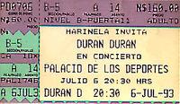 Mexico duran ticket 1993 6 july