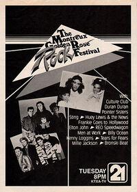 Montrose Music Festival golden rose rock wikipedia duran duran sting reo speedwagon