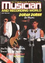 INTERNATIONAL MUSICIAN and recording world MAGAZINE wikipedia JULY 1982 DURAN DURAN COVER