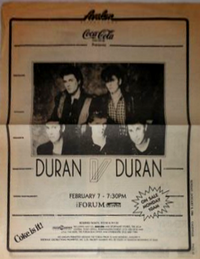 He Forum, Los Angeles, CA (USA) duran duran wikipedia