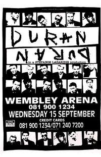 Poster duran duran Wembley Arena, London 1993