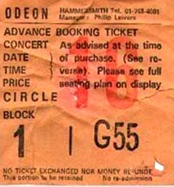 Duran ticket 1981-07-09 ticket
