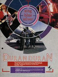 Sing Blue Silver video wikipedia duran duran advert