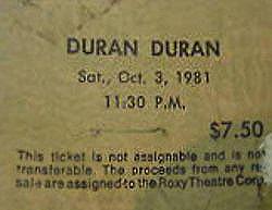 1981 ticket x x x xa