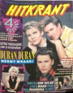 HITKRANT magazine `87-DURAN DURAN -NENA-Spandau BALLET-FLODDER-Annie LENNOX-A-HA-PET SHOP BOYS wikipedia