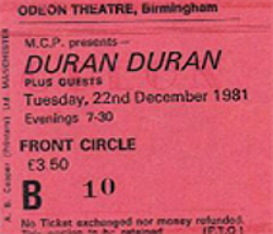 Birmingham odeon duran duran 1981