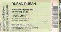 Duran duran ticket milano