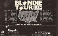 Blondie tour advert tracks across america duran duran 1982 usa