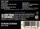 8 TRACK · HARVEST · USA · 8XT-12158 duran duran 1981 album wikipedia 1