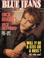 Blue Jeans Magazine 20 April 1985 No. 431 Nick Rhodes of Duran Duran wikipedia