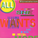 1 all she wants is australia EMI 2186 single duran duran discography discogs wikipedia