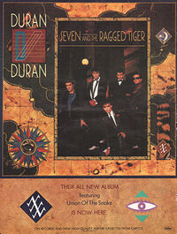 Seven and the ragged tiger advert wikipedia album duran duran