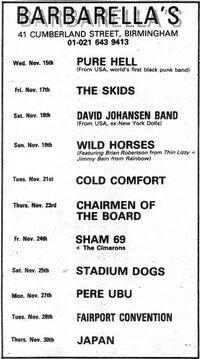 1978-11-30 Barbarellas barbarella'a wikipedia birmingham duran duran wikia nightclub club Bham