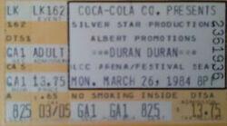Lakeland FL USA Lakeland Civic Center wikipedia duran duran band concert ticket stub