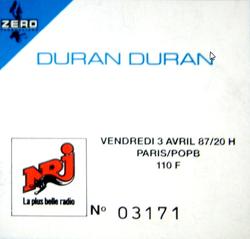 Ticket duran duran 3 april 1987 france 1