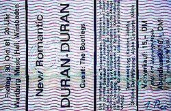 Duran duran ticket tick