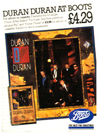 Duran duran seven and the ragged tiger flyer 1