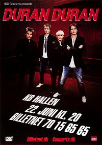 Poster DURAN DURAN KB HALLEN 22 JUNE