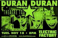Poster duran duran electric factory