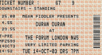 The forum duran duran ticket