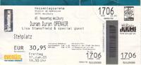 Ticket duran duran weilburg germany 17 june 05