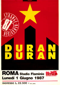999 roma stadio flaminio italy italia duran duran 1987 1 june discography discogs wikipedia