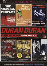 1 duran duran Sydney Entertainment Centre in Sydney, Australia. MARCH 28 2008 CONCERT POSTER REVIEW
