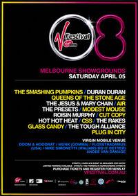 1 duran duran v V Festival, Melbourne, Australia. poster
