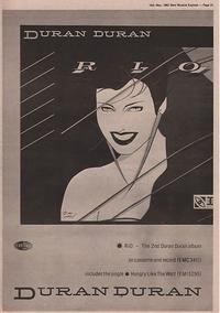 1 advert duran duran rio album rare