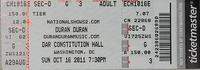 Ticket washinghton dc usa concert show tour dates duran duran discogs wiki