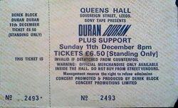 Q Queens Hall Leeds 11 december 1983 duran duran ticket stub collection wikipedia