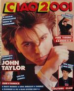 Ciao 2001 N.11 del 1986 Duran Duran Eurythmics Matt Bianco U2 Culture Club FF1 magazine wikipedia