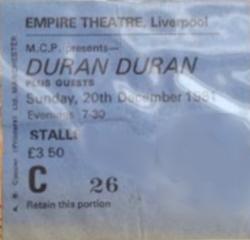 Liverpool empire theatre wikipedia duran duran 20 December 1981