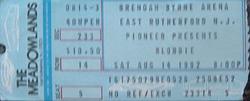 1 TICKET BLONDIE DURAN DURAN EAST RUTHERFORD NJ USA 1982