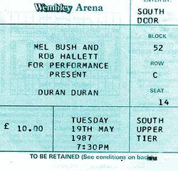 Ticket duran duran 1987-05-19 ticket a