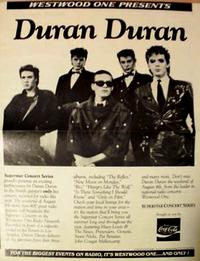 Duran duran poster westwood one
