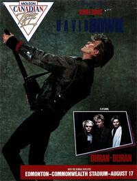 1 duran duran david bowie canada tour poster