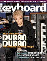 Keyboard magazine 2011 nick rhodes duran duran