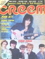 Creem Magazine July 1983. Joan Jett Clinton Ultravox Duran Duran wikipedia