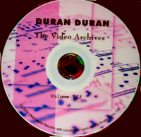 The video archives DURAN DURAN VOLUME 3