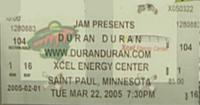 Xcel energy center ST PAUL DURAN DURAN BUY TICKET